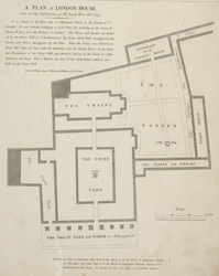 A PLAN of LONDON HOUSE, Now in the Possession of Mr. Jacob Hive Dec r. 1747